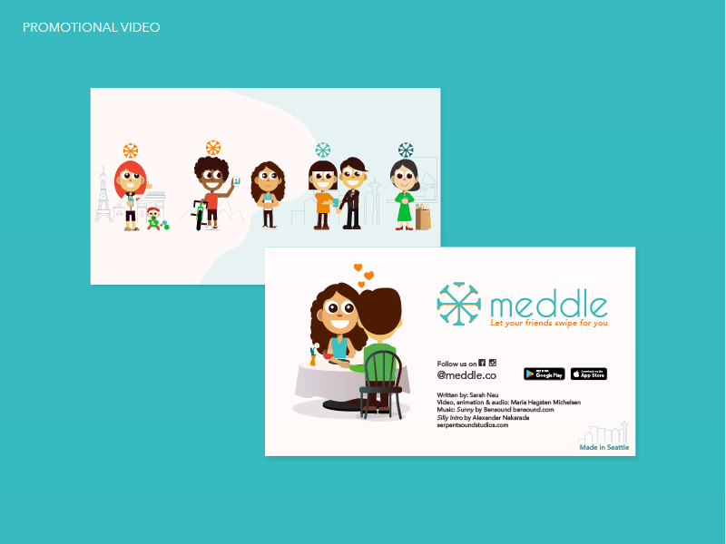 Meddle animated commercial video