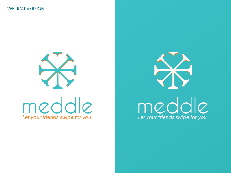 Horizontal version of Meddle logo