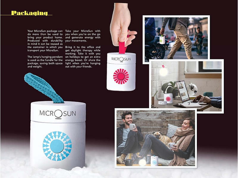 MicroSun lamp package